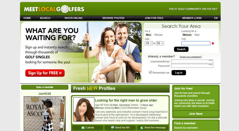 meet local golfers homepage