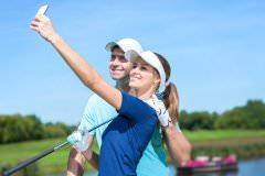 golfer couple