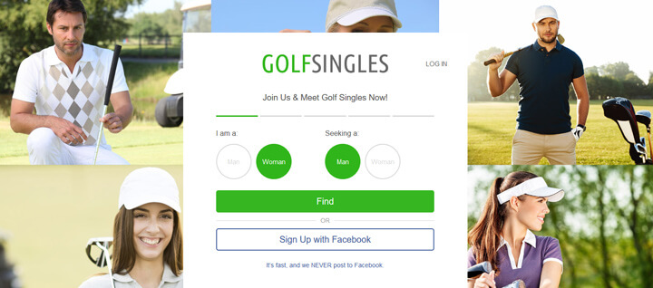 Golf Singles printscreen homepage